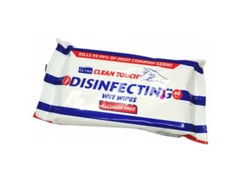 Clean Touch Disinfecting Wet Wipes Alcohol Free Pack 48