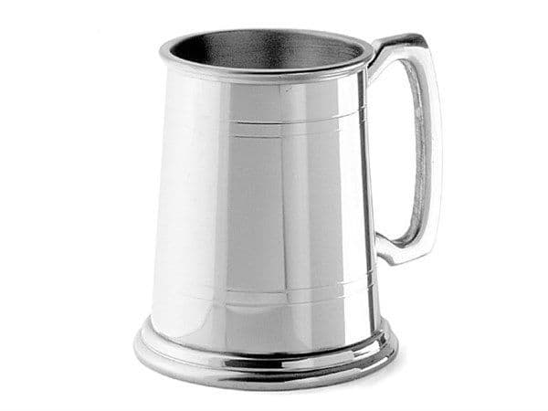 1 Pint Tankard, Polished with Lines