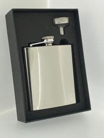 6oz Stainless Steel Hip Flask  & funnel with Free engraving up to 10 words