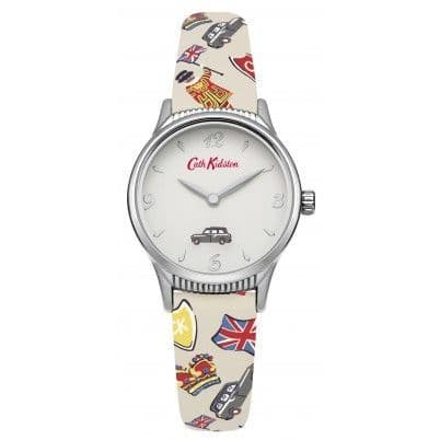 Cath Kidston London Stamps Rotating Disc Strap Watch
