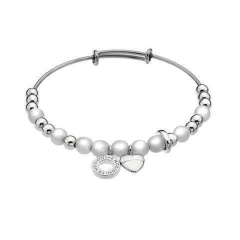 Faux Mother of Pearl Bangle from the Emozioni collection