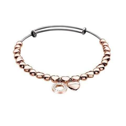 Heart Bangle Rose Gold Plated from the Emozioni collection