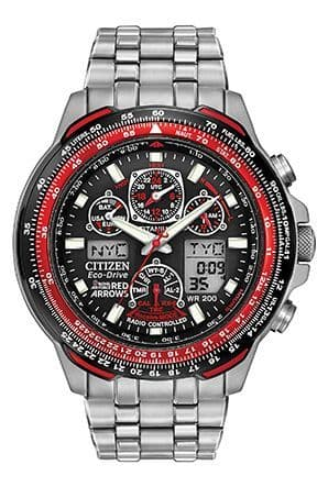 JY0110-55E Red Arrows Skyhawk Titanium Radio Controlled 200 meter water resistant watch