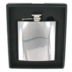 Polished Stainless Steel Hip Flask 6oz RRP £20.99 Ltd offer 25% off