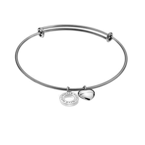 Silver plated Bangle from the Emozioni  Collection
