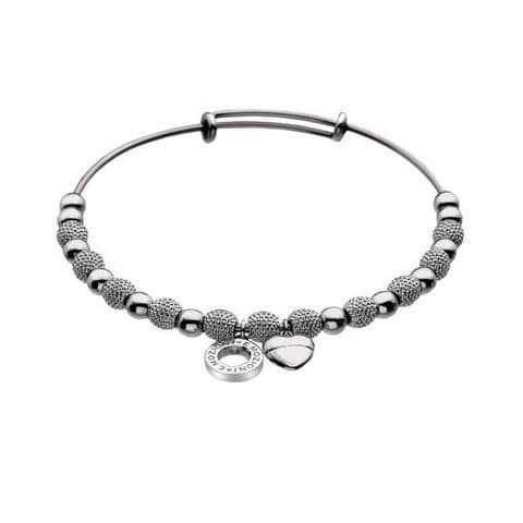 Silver plated Ula Bangle from the Emozioni collection