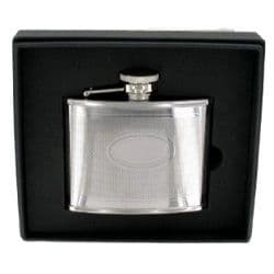 Stainless Steel Barley Hip Flask and Plate 4oz RRP £21.99 25% off