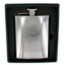 Stainless Steel Barley Hip Flask and Plate 6oz RRP £22.99 25% off