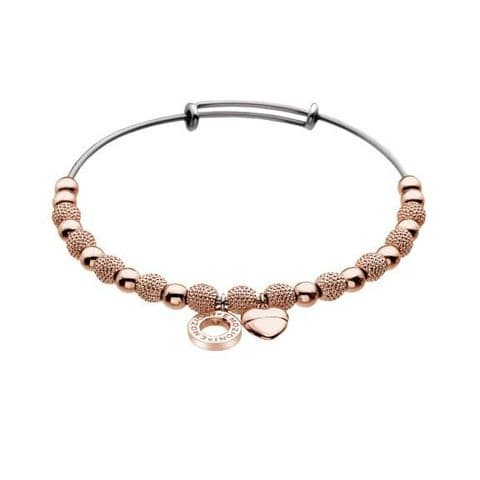 Ula Rose Gold Plated Bangle from the Emozioni collection