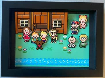 Earthbound Characters 3D Diorama