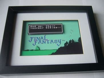 Final Fantasy 1 Intro     3D Art Shadow Box