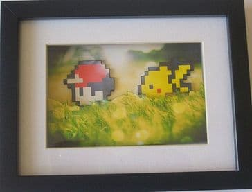 Pokemon 8 Bit -  3D Diorama Shadow Box