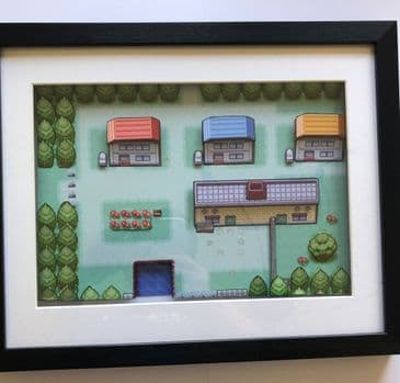 Pokemon Pallet Town Diorama Shadow Box