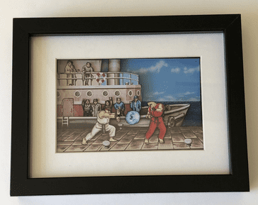 Street Fighter 2 3D Diorama Shadow Box