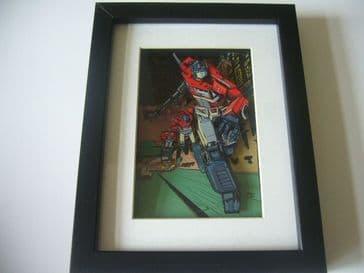 Tranformers Optimus Prime 3D Diorama Shadow Box Art