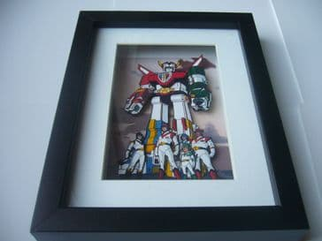 Voltron Legendary Defender 3D Diorama Shadow Box Art