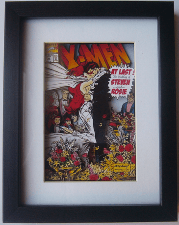 X-Men Comic Customizable Wedding Gift 3D Diorama Shadow Box Art