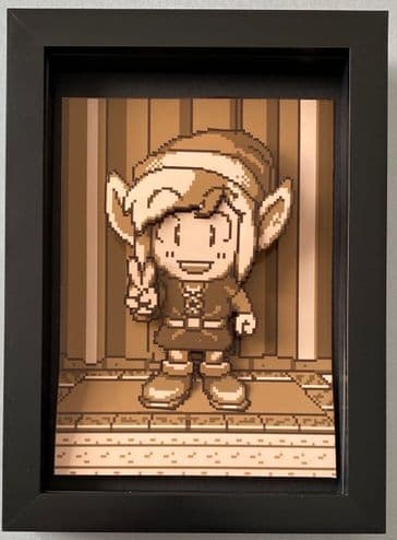 Zelda Links Awakening Portrait 3D Diorama