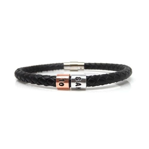 Personalised 10th Birthday Leather Bracelet – Gift Boxed