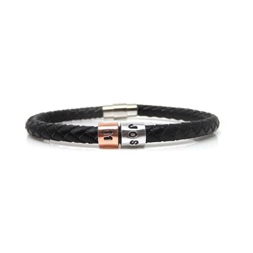 Personalised 11th Birthday Leather Bracelet – Gift Boxed – Free Delivery