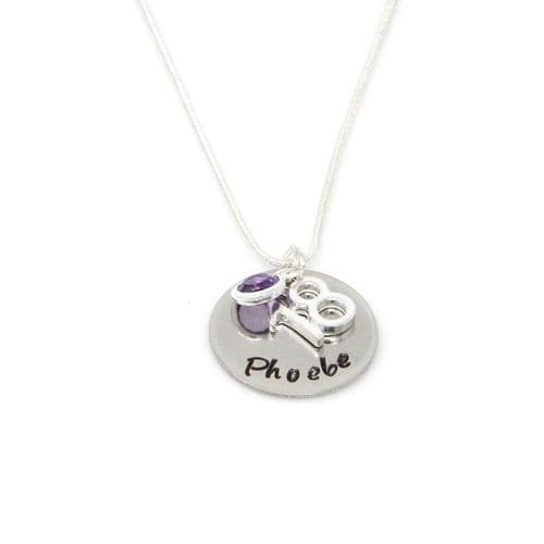 Personalised 18th Birthday Birthstone Necklace - Gift Boxed & Free Delivery UK