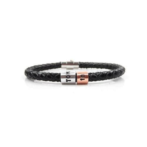 Personalised 18th Birthday Leather Bracelet – Gift Boxed – Free Delivery