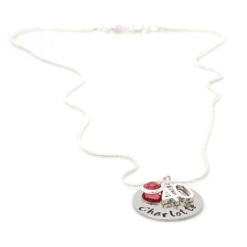 Personalised 40th Birthday Birthstone Necklace - Gift Boxed & Free Delivery UK