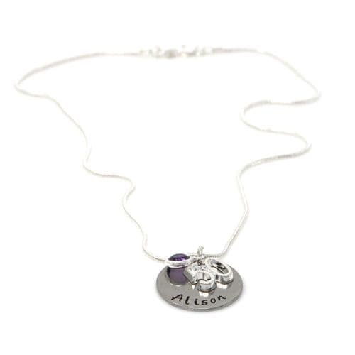 Personalised 50th Birthday Birthstone Necklace - Gift Boxed & Free Delivery UK