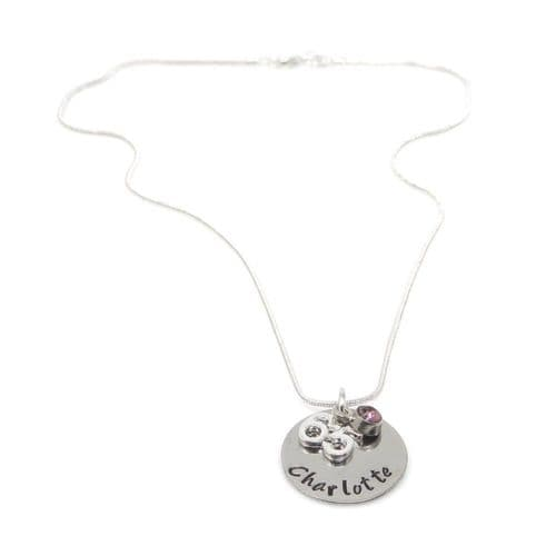 Personalised 65th Birthday Birthstone Necklace - Gift Boxed & Free Delivery UK