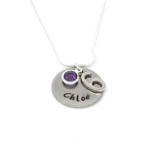 Personalised 6th Birthday Birthstone Necklace - Gift Boxed & Free Delivery UK