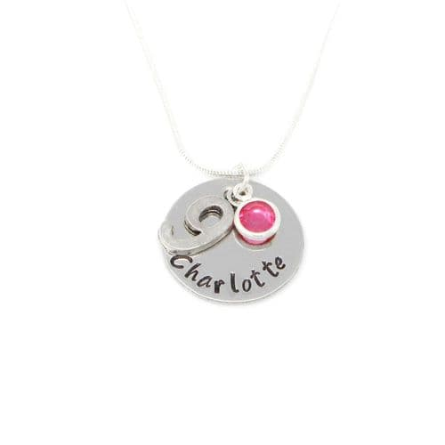 Personalised 9th Birthday Birthstone Necklace - Gift Boxed & Free Delivery UK