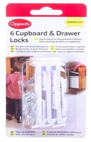 6 cupboard & drawer locks