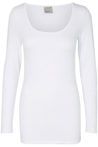 Maxi my long sleeve soft long u-neck white