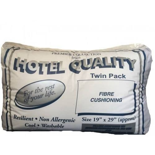 Silver Hotel Pillow Twin Pack