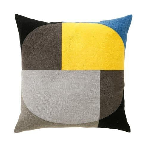 Zodiac 45x45cm Cushion 3ct1339a ochre/grey