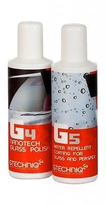 GTechniq G4 & G5 Glass Polish Glass Rain Repellent Coat Detailing Car Van Rainx