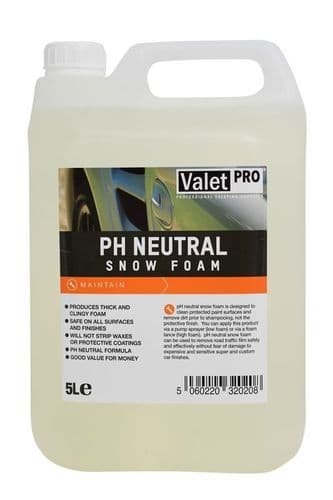 Valet Pro PH Neutral Snow Foam 5L
