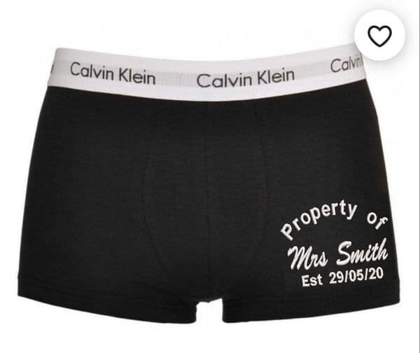 Personalised Calvin Klein Mens Boxer Shorts - Wedding and Anniversary gifts - ON THE LEG