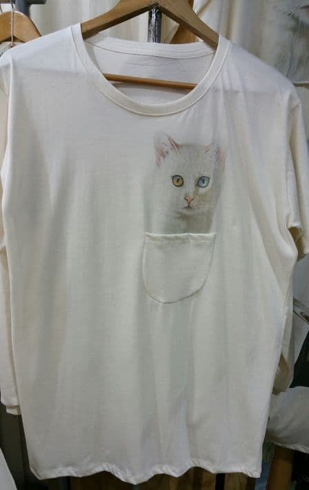 'Bowie cat' pocket tee