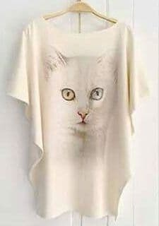 'Bowie' cat top - free size