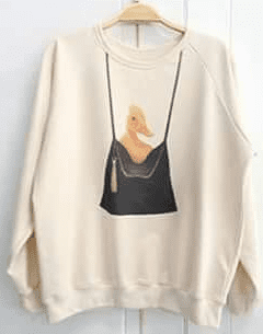 Ladies sweater 'Yellow Duck in bag' - free size