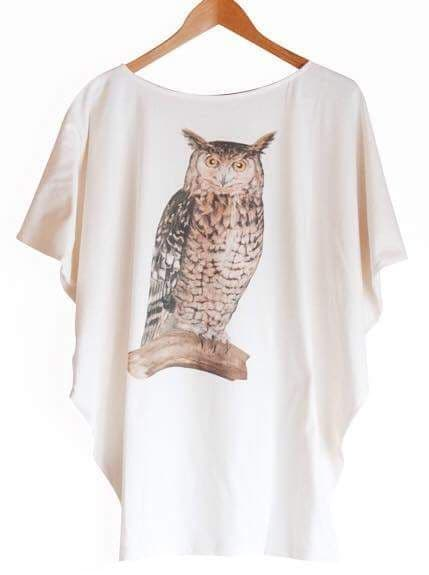 Owl on tree branch top - free size
