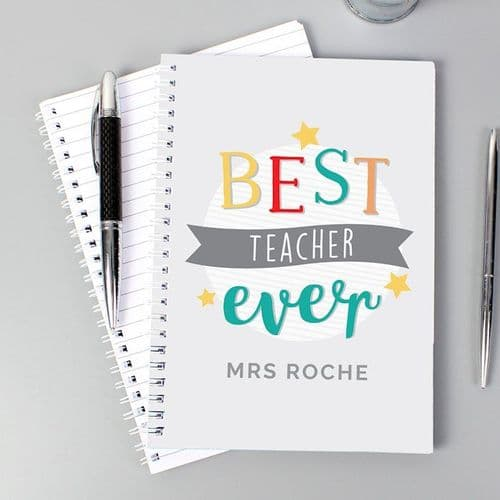 'Best Teacher Ever' A5 Notebook