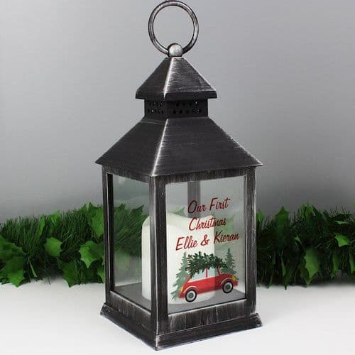 'Driving Home For Christmas' Black Lantern