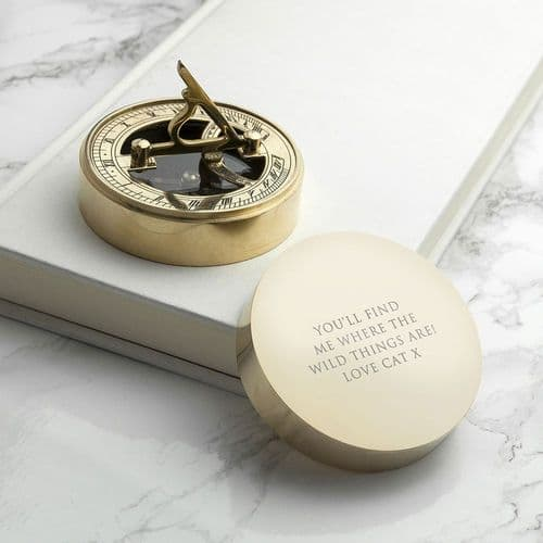 Adventurer's Brass Sundial and Compass