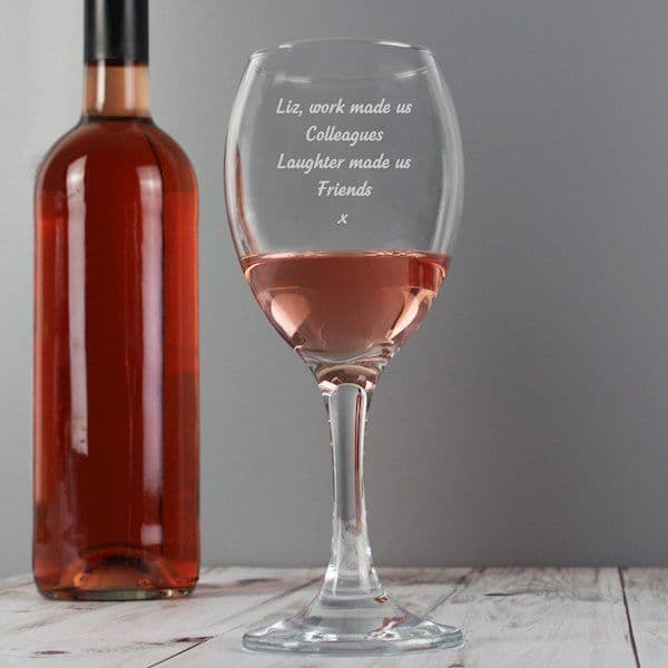 Personalised Any Message Wine Glass - Ideal gift for Birthdays, Mother's Day, father's Day, Christmas, Weddings, Grandparents, Housewarming, For her