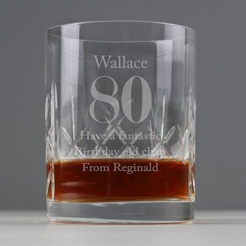Big Age Cut Crystal Whisky Tumbler