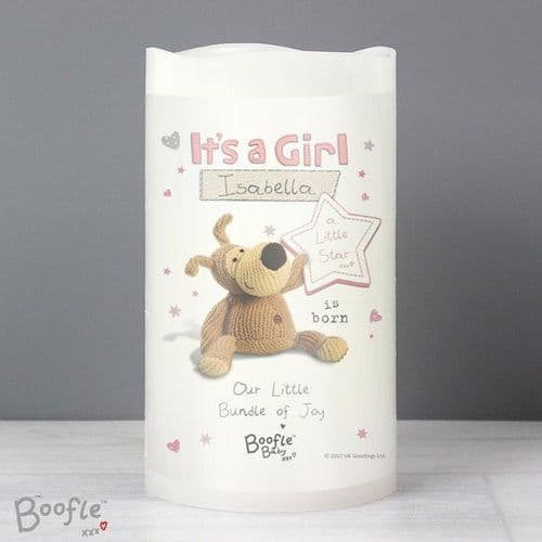 Boofle It's a Girl Nightlight LED Candle