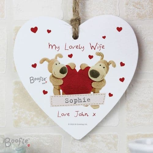 Boofle Shared Heart Wooden Heart Decoration