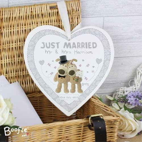 Boofle Wedding Large Wooden Heart Decoration